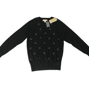MICHAEL KORS  Embellished Raglan Pullover Sweater